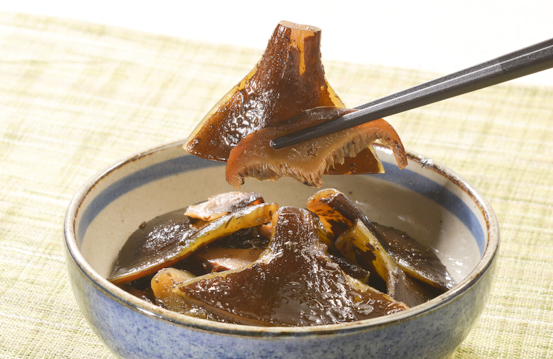 原木シイタケと根昆布の佃煮